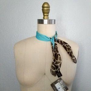 Echo Accessories - Echo cheetah print silk scarf NWT